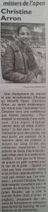 ARTICLE DE PRESSE LE REPUBLICAIN LORRAIN CHRISTINE ARRON DODO