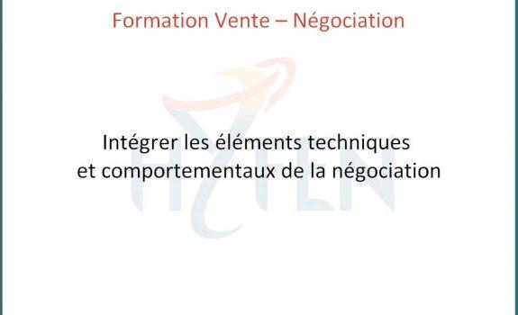 Formation intégrer les éléments techniques et comportementaux de la négociation