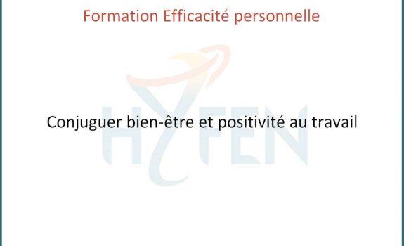 Formation conjuguer bien-être et positivité au travail